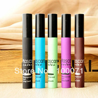 Wholesale Hot Sale Color Multicolor Blue Green Black Coffee Purple Blue Eyelash Brush Streak Hair Mascara