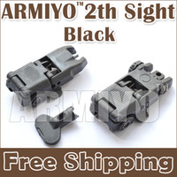 Black airsoft gun - Armiyo Airsoft Shooting Targeting th Generation Front Rear Folding Hunting Riflescope Guns Sights Black Military Training Scope