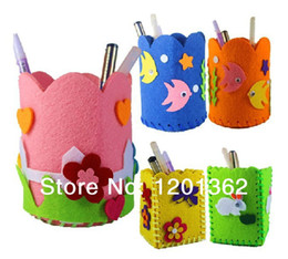 Wholesale New Non Woven Pen Holder DIY Craft Handicraft Kids Children Puzzle Educational Activity