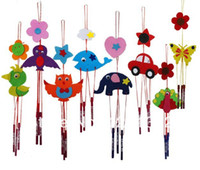 Wholesale Hot New Non Woven Campanula Wind Chime DIY Craft Handicraft Kids Children Puzzle Educational Activity