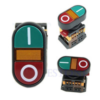 Push Button Switches D6837 Plastic and metal New Arrive 1PC Light Indicator Momentary Switch Red Green Power ON OFF Start Stop Push Button