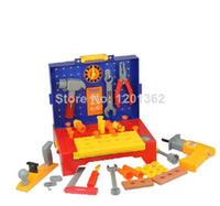 Wholesale Tool Chest Engineer Work Set Kids Baby Pretend Play Tool Kit Drill Battery Operated Set