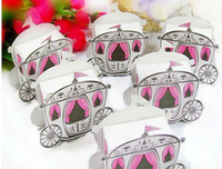 baby shower favors free shipping - Pink Cinderella Enchanted Carriage Marriage Candy Boxes Wedding Favors Gift Favour box baby shower decoration