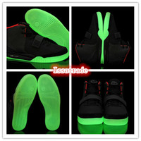 Wholesale Famous Trainers Retro Kanye West Air Yeezys II Men s Sports Basketball Shoes Black Red Size