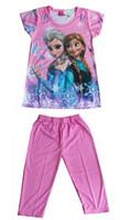 Wholesale Hot sales New Summer girls dress children clothing cartoon Frozen Anna dress kids child baby girls dresses clothes