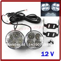Turn Signals Honda D3457 Free Shipping Daytime Running 4 LED Round DRL Light 2x Auto Car Day Driving Bulb Fog Light Lamp 12V