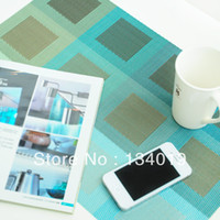 Wholesale Simple style PVC non slip rectangular placemats table mats insulation pad
