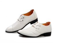 Wholesale 2014 Latest white Men s leather shoes Wedding shoes unique Joining together Groom dress shoes Dance shoes Gentleman shoes ENPX1