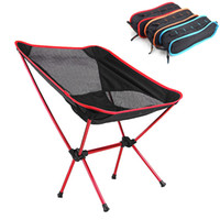 Wholesale 3 Colors Portable Folding Camping Stool Chair Seat for Fishing Festival Picnic BBQ Beach with Bag Red orange blue