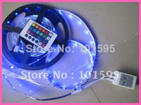 Wholesale 5M LEDs RGB Color Changing Magic LED Light Strip Non Waterproof Key IR Remote Controller