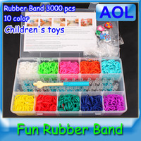 12-24M Multicolor Rubber Rainbow loom colorful Rubber band handmade DIY bracelet best christmas gift for children MOQ 1pcs Free shipping
