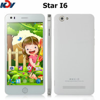 Wholesale 5 inch G Smartphone Star i6 MTK6582 Quad Core Android GB RAM GB ROM IPS Screen Dual SIM Cards GPS WiFi FM Cell Phone
