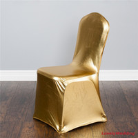 foot chair - gold chair cover metallic gold and silver spandex reinforced elastic feet pocket flat front top quality for wedding