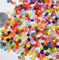 Bead Caps Fashion Seed Beads Free Shipping 450 Gram Glass Seed Beads 2mm Mixed Color Jewelry Making,Cheap Glass Seed Beads