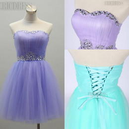 Hot Elegant Free Shipping Lovely Strapless Prom Homecoming Party Dresses Crystal Pleats Homecoming Sweet 16 Dresses