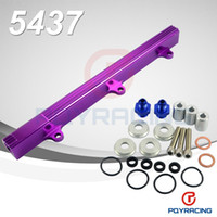 Wholesale PQY STORE NEW FUEL RAIL For Honda CIVIC INTEGRA DOHC B16 B18 B SERIES ALUMINUM TOP FEED INJECTOR FUEL RAIL