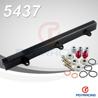 Wholesale PQY STORE FUEL RAIL NEW For Honda CIVIC INTEGRA DOHC B16 B18 B SERIES ALUMINUM TOP FEED INJECTOR FUEL RAIL