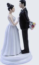 Wholesale New White Black Bride amp Groom Wedding Cake Topper