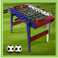 Wholesale EMS Gift rod table football machine Large child parent child toys game table bobby football table Soccer Tables