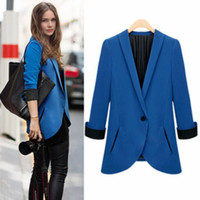 Jackets Women Cotton [S-1084]Free shipping 2014 autumn wind of England 3 d cut out a small suit tailored suits with cultivate one's morality