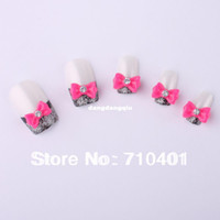 Black Round Rhinestone & Decoration Wholesale-New Free Shipping Wholesale Nails Supply,100pcs 3D Resin Rose Bow Tie DIY Acrylic Tip UV Gel Polish Tools Nail Design Nail Art