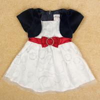 Wholesale baby girl wedding dress nova new design kids formal dress in velvet lined girls christmas dresses Korean children clothes H4949