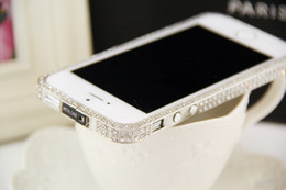 New Bling Elegant Crystal Diamond Metal Bumper Case For iPhone 4 4S 5 5S