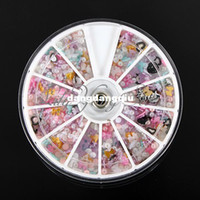 Wholesale Mixed Style Nail Art Tips Bead Bow Heart Flowers Pearl Wheel Decoration Case