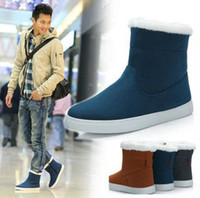 warm shoes snow boots men s martin boots with fur free shipping XMX042