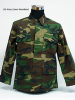 Hunting Full Cotton USMC US Army Camo Woodland BDU Uniform Set Shirt Pants US Army Military Uniform CS Combat Uniform Hunting Suit Hunting Sets
