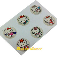 Wholesale set newest hello kitty cartoon series home button sticker for iphone i ipad itouch