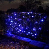 Net Lighting For Outdoors: 2M*1.5M 100 Solar LED String Light -Net fairy Lights- Christmas Lights For  Decoration Outdoor Garden Free Shipping,Lighting