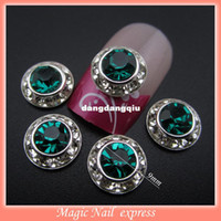 Wholesale MNS93G green glitter rhinestones for nails decorations floating locket charms d ally nail jewelry supplies