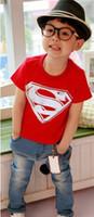 Unisex Summer  B8 Hot Sale Children Kids Clothing Tees,Cool Superman Baby Boys T Shirts For Summer,Children Outwear Baby T-shirt