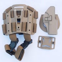 Harnesses & Pods   MILITARY TACTICAL SPECIAL FORCES ARMY MUD-COLORED SERPA GLOCK HARD DROP LEG HOLSTER -33125