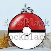 Pendant Necklaces Trendy Unisex Pokeball Pendant with Ball Chain Necklace Included Necklace jewelry body jewelry DHPDR2689