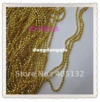 Wholesale MDA D meters bag Gold Tiny Beads Without Facets Chain Shape Metal Nail Decoration Lovely Outlooking Nail Art Decorations