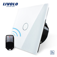Wholesale Livolo Remote Switches EU Standard White Black Crystal Glass Panel Switches V Wall Light Remote Touch Switch VL C701R amp VL RMT