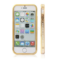 rhinestone cell phone cover - New Luxury Perfume Series Bumper shell Bling Crystal Rhinestone Metal Plastic in Cell Phone Case Cover With Retail Box For iPhone S