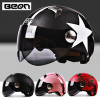 Wholesale Ps BEON Helmet Motorcycle Electric Cars Motorcycle Accessory Bike Helmet Moped Dot Both Lenses