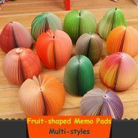 Wholesale Memo Pad Fruit Note pad Memo pad Note paper Sticky Note of Appl Orange Watermelon Lemon Strawbarry Pomegranate Kiwi fruit
