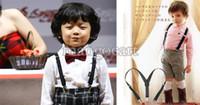 Wholesale Promotion BOYS GIRLS Suspender Children Clip on Adjustable Elastic Pants Y back Suspender Braces Belt children Black b14