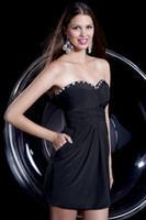 New Arrival A- Line Black Sweetheart Crystal Homecoming Party...