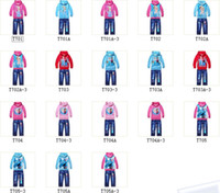 Wholesale children clothing kids clothing sets frozen hoodie frozen jeans THE LOWEST PRICE ON SALE