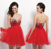 Free Shipping Ball Gown Sweetheart Crystal Homecoming Party ...