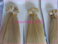 Cheap Brazilian Hair flat tip extension Best #1B/2/4/6/14/18//27/33/60 Straight human hair extension