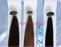 Brazilian Hair #1B/2/4/6/14/18//27/33/60 Straight Best Sale Flat-Tip Hair Extension 100% Brazilian Human Virgin Hair Pre-bonded 6A Grade Best Queen Hair No Shedding No Tangle 3pcslot