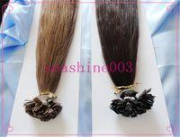 Peruvian Hair #1B/2/4/6/14/18//27/33/60 Straight 6A Grade 100% Peruvian Human Virgin Remy Hair Flat-Tip Hair Extension Pre-bonded Hair 1g strand 300g lot Tangle Free
