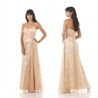 Hot Sale Long Sweetheart Lace Backless Beading Evening Prom ...