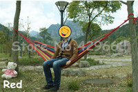 Cheap 50pcs lot camping hammock swing outdoor thickening canvas hammock casual